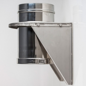 """Adjustable Base Support Bracket For 6"""" (150mm) Twinwall Insulated Flue Pipe"""