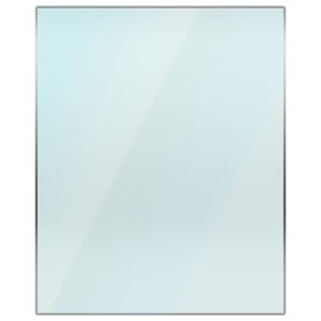 Rectangular Glass Hearth