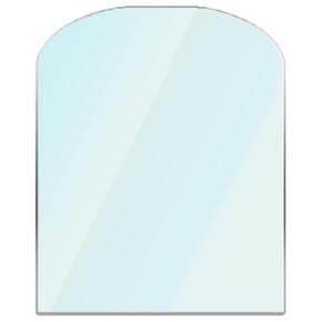 Glass Hearth Semi Circle