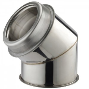 """45 Degree Bend 6"""" Twinwall Insulated Flue Pipe"""