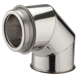 "90 Degree Bend 6"" (150mm) Twinwall Insulated Flue Pipe"