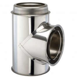 "90 Degree Tee & Cap 6"" (150mm) Twinwall Insulated Flue Pipe"
