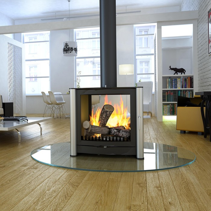 - Firebelly FB3 Double Sided Wood Burning Stove
