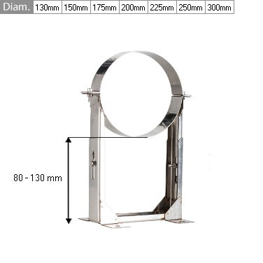 Adjustable Wall Support 80mm - 130mm 6″ (150mm)